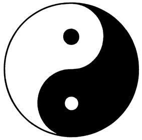 Yin-Yang tekening