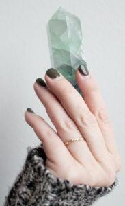 Kristallen en edelstenen healing kristal