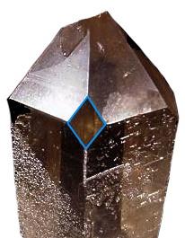 Window kristal met typisch ruitvormig extra facet