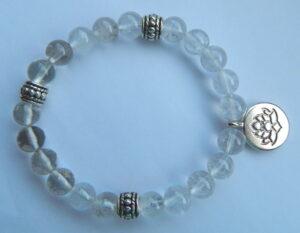 Armband bergkristal lotus