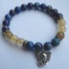 Armband lapis lazuli/rutielkwarts Ganesha